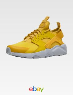 watch aefe7 0e4ee Nike Air Huarache Run Ultra Mineral Yellow Sneaker Men s Lifestyle Shoes