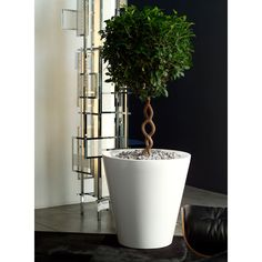 Fabulous high end gloss finish tall designer cone planters with easy watering system online at potstore.co.uk