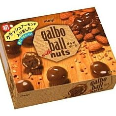 Meiji Galbo Ball With Nuts Chocolate 55g Bitter chocolate is soaked into the round snack with almond grains. Milk chocolate coating. 55g in the package. http://ift.tt/299JTye