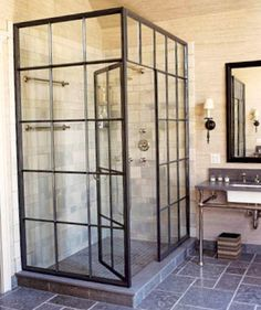 BATHROOM - industrial shower concept