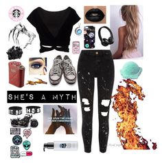 """""""CrystalNightsBlurredLies"""" by that-goth-cutie ❤ liked on Polyvore featuring River Island, Nikki Strange, Converse, Beats by Dr. Dre, Laneige, McCoy Design, NOVICA and too cool for school"""