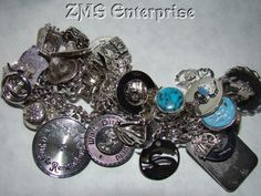 VINTAGE BRACELET LOADED With 47 CHARMS STERLING SILVER