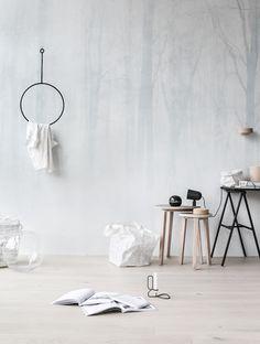ANNALEENAS HEM // home decor and inspiration: WINTER FOREST wallpaper