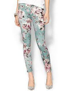 7 For All Mankind Ankle Skinny Jean | Piperlime  I love how the print pops off of background