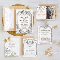 Fairytale Frame themed wedding invitation suite from Minted!