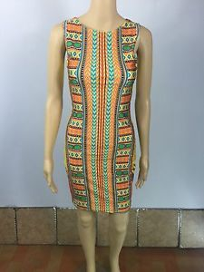 2015 Traditional African Womens Clothing Sleeveless Yellow Dashiki Bodycon Dress