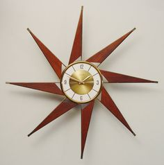 RESERVED for BILLIE 1960s Starburst Clock, Turbine Design by Elgin. Mid-Century Modern after George Nelson Turbine  Design via Etsy