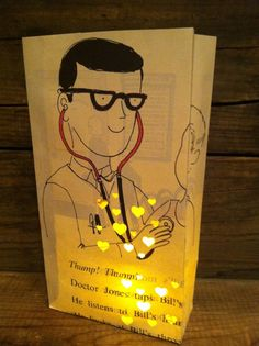 Doctor Gift Luminary For Doctors Office Pediatrician Stethoscope Waiting Room Check Up Bags