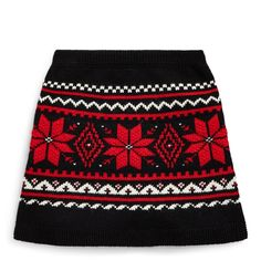 She'll be ready for all of the season's festivities with this skirt which is intarsia-knit with a heritage Fair Isle pattern. Kids Winter Fashion, Kids Fashion, Short Skirts, Mini Skirts, Fair Isle Pattern, Sweater Skirt, Women Brands, Rib Knit, Cheer Skirts