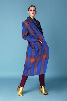 Пальто клетка весна-осень 2018 купить на сайте Fors http://fors-official.com Пальто - 100% шерсть, подкладка - 100% полиэстр