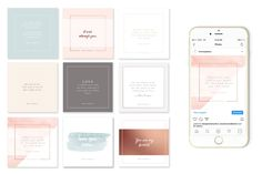 Soft Hues & Rose Gold Instagram Set by Love Supply Company on @creativemarket