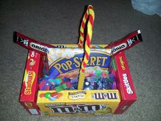 Movie themed Easter basket I made for my bro...just add a redboc rental! ; ) Everything from Walmart