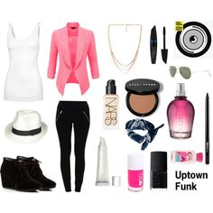 Uptown Funk by pet387 on Polyvore featuring Fat Face, VILA, TOMS, Forever 21, Ray-Ban, ASOS, NARS Cosmetics, M.A.C, Max Factor and H&M