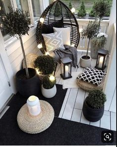 Beautiful Outdoor furniture for a small space. Get inspired to makeover your fro… Beautiful Outdoor furniture for a small space. Apartment Balcony Decorating, Apartment Balconies, Cool Apartments, Small Balcony Decor, Small Patio, Conservatory Decor Small, Conservatory Ideas Interior Decor, Small Balcony Furniture, Narrow Balcony