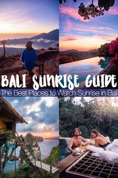 Bali Sunrise Guide: All the best places to watch sunrise in Bali, including how to get there, photos, and tips for visiting. Here are some Bali beach sunrises, jungle sunrises, sunrise views, and even a sunrise swinig or two. #bali #sunrise #balisunrise Bali Travel Guide, Travel Plan, Travel Goals, Time Travel, Travel Guides, Places To Travel, Travel Tips, Places To Go, Travel Destinations