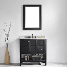 """Found it at Wayfair - Florence 36"""" Single Vanity Set with Mirror"""