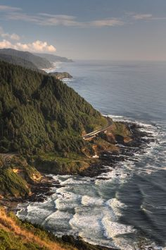 Cape Perpetua, Pacific Coast Highway, Yachats, Lincoln County, Western Oregon