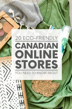 Need sustainable clothing, home decor, beauty products and more? Look no further than these 20 eco-friendly Canadian online stores! Eco Friendly Fashion, Eco Friendly House, Sustainable Clothing, Need To Know, Beauty Products, Decor, Sustainable Clothes, Decoration, Cosmetics