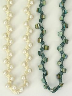 Satin Pillow Stitch Necklace  by Vashti Braha