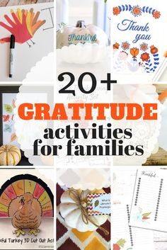 Simple list of gratitude activities for the family. From crafts, to printables to quick decorations ideas, your family can show they are thankful this Thanksgiving in a new and fun way. Thanksgiving Activities For Kids, Craft Activities For Kids, Thanksgiving Crafts, Christmas Activities, Party Activities, Christmas Projects, Holiday Crafts, Holiday Ideas, Diy Crafts For Kids Easy