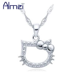 Find More Necklaces & Pendants Information about 2016 New Fashion Animal Necklace for Women Girls Children's Jewelry Trendy Cute Crystal Rhinestone Pendant Collares JS2497,High Quality necklace birthstone,China necklace - rope chain Suppliers, Cheap necklace design for women from Almei Jewelry Store on Aliexpress.com