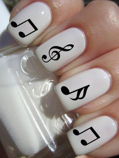 Music Note Nail Decals by PineGalaxy on Etsy, $4.50