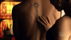 """kris holden-ried tattoo - love it!  I love that he was willing to use it in the story for Lost Girl; and also that whenever asked about it """"it's personal."""""""