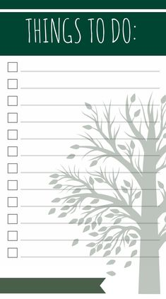 I so need this! Things To Do Template PDF Free