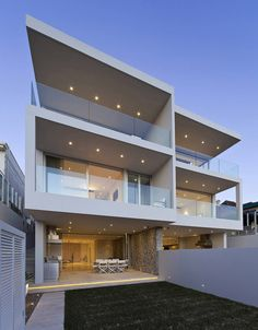 Portland Street Duplex is a three story contemporary property designed by MPR Design Group, located in Sydney