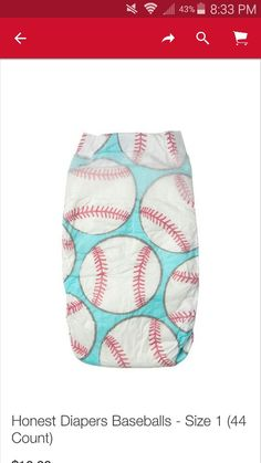 Honest Size Newborn Diapers in Baseball Pattern Honest Company Diapers, Honest Diapers, Love You To Pieces, Newborn Diapers, Preparing For Baby, Disposable Diapers, Leg Cuffs, Cute Baby Clothes, Latex Free