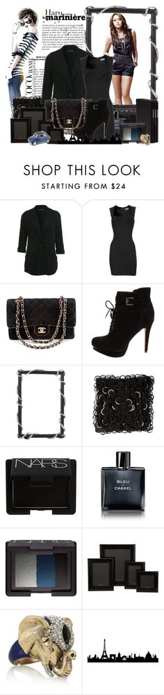 """""""Miley Cyrus"""" by otrajorgelis ❤ liked on Polyvore featuring Chanel, Max Azria, Miss Selfridge, L'Agence, Sam Edelman, Zara, NARS Cosmetics, Graphic Image, Roberto Cavalli and WALL"""