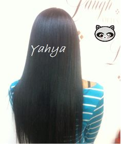 An interview with Yahya who discusses how she takes care of her hip length relaxed and Japanese straightened hair.