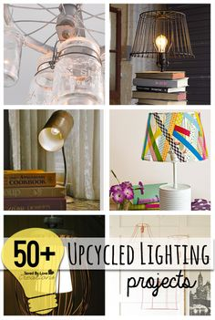 50 Plus Best DIY Upcycle Lamps & Chandeliers