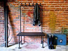 Industrial Pipe Coat Rack Possum Belly