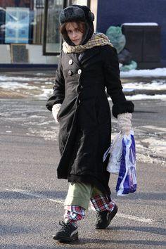 Helena Bonham Carter in her Pjs