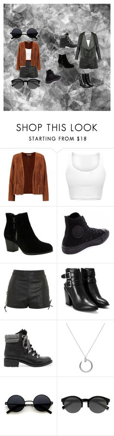 """show"" by beatrizschwert on Polyvore featuring moda, Sandro, Skechers, Converse, Topshop, Nasty Gal, Sam Edelman, Cartier e EyeBuyDirect.com"
