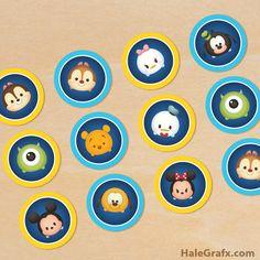 FREE Printable Disney Tsum Tsum Cupcake Toppers