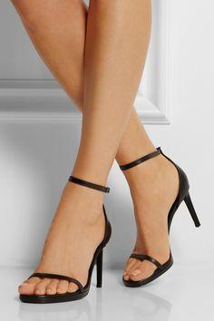 Saint Laurent|Jane leather sandals|NET-A-PORTER.COM