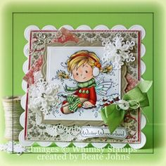 Holly [SZWS135] - $8.00 : Whimsy Stamps
