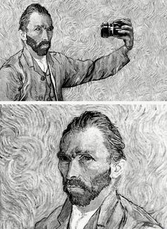 Oh Van Gogh...I knew those self portraits were too good  ;)