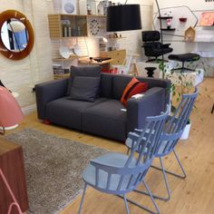 Summer in the Pink Apple showroom. A new relaxed 'lounge' area complete with Knoll Barber & Osgerby sofa and Kartell Comback chairs.