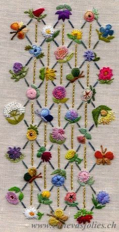 Wonderful Ribbon Embroidery Flowers by Hand Ideas. Enchanting Ribbon Embroidery Flowers by Hand Ideas. Crewel Embroidery Kits, Hand Embroidery Flowers, Embroidery Needles, Silk Ribbon Embroidery, Hand Embroidery Patterns, Machine Embroidery, Embroidery Supplies, Beginner Embroidery, Hardanger Embroidery