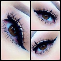 jennhunny83: Simple cat eye & some dramatic lashes today