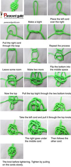A tutorial on how to tie a plafond knot.