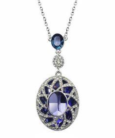 18k platinum-plated / swarovski crystals