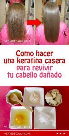 Como hacer una keratina casera para revivir tu cabello dañado #keratuba #queratina #mascarilla #cabello #pelo #dañado #maltratado #revivir
