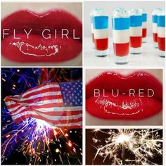 Need the perfect red lipstick for the 4th of July?!? I have Blu Red and Fly Girl Lipsense in stock and ready to ship. Best part it's a smudge proof Kiss proof and water proof lipstick that will last from the morning parade to the fire works. Find my on FB Lips Kiss and Makeup with Megan Distributor ID 379256