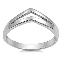 Ring Size 8 Chevron Band Knuckle Midi Ladies Sterling Silver Thumb .925 New…
