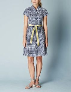 Boden Sophia Shirt Dress Blue Mosaic Women Boden, Blue Weve given the shirt dress a feminine makeover with a flattering flared skirt and nipped-in waist. And theres no need to worry about gaping buttons¦ Weve added an ingenious no-peep placket. http://www.MightGet.com/january-2017-13/boden-sophia-shirt-dress-blue-mosaic-women-boden-blue.asp