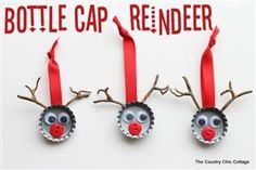 Make Bottle Cap Reindeer